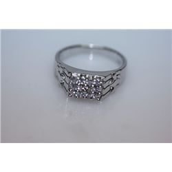 19.2 CTW CZ RING .925 STERLING SILVER
