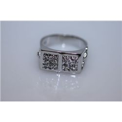 29.6 CTW CZ RING .925 STERLING SILVER