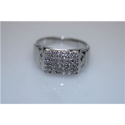 19.8 CTW CZ RING .925 STERLING SILVER
