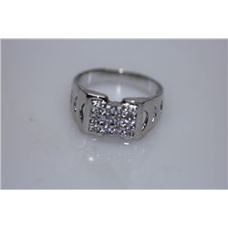 20.5 CTW CZ RING .925 STERLING SILVER