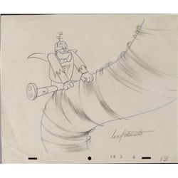 Frankenstein Jr Signed Drawing Original Animation