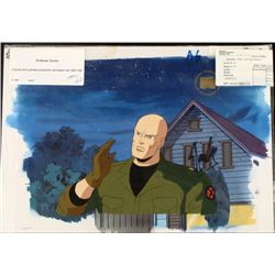 Stan Lee Signed Cel Animation Background X-Men Orig