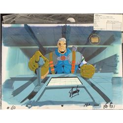 Signed Orig Stan Lee Background Cel Production X-Men