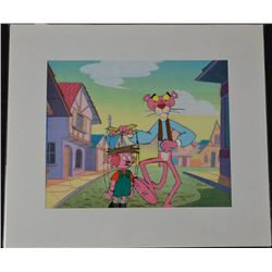 Pink Panther Orig Production Cel & Drawing Marionette