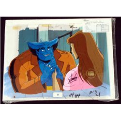 Animation Cel Background X-Men Signed Stan Lee Orig Blu
