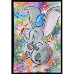 Dick Duerrstein Original Art Painting Dumbo Pop Art