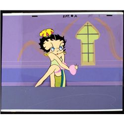 Betty Boop Orig Era Animation Cel Background Crown Art