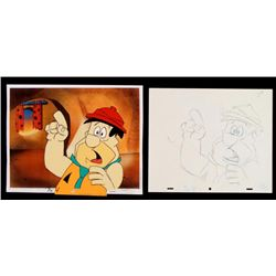 Original Hold On Cel Drawing Animation Flintstones Fred