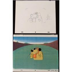 Orig Muttley Cel Animation Background Drawing Wacky Art