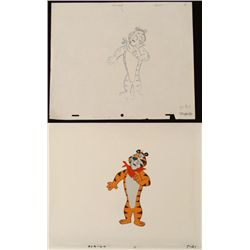 Original Cel Guilty Drawing Tony the Tiger Production