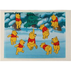 Original Winnie The Pooh Cel Background Animation Art