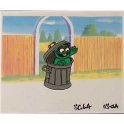 Oscar the Grouch Orig Cel Animation Background Sesame