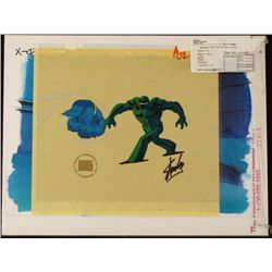 Signed Orig Stan Lee Bkgd Animation X-Men Robot Art Cel