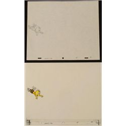 Flying To Buzz Original Cel Animation Drawing Cheerios