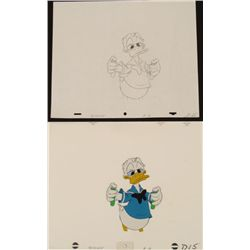 Production Chemicals Donald Duck Cel Drawing Orig Mix