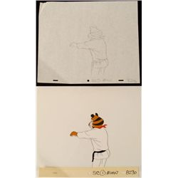 Karate Tony Orig Frosted Flakes Animation Drawing Cel