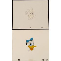 Blue Hat Original Animation Donald Duck Cel Drawing Art