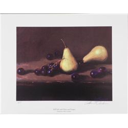 William Chambers Signed AP Art Print Still Life Pears