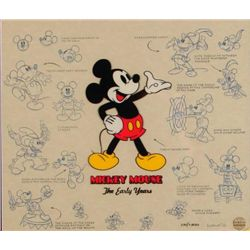 Mickey Mouse Talking Disney Lumicel Animation Cel Art