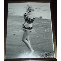 Marilyn Monroe Photograph Signed by George Barris-Beach