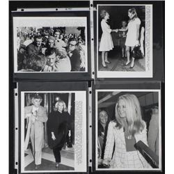 4 Original Press Photos Joan Kennedy, Edward, Mrs Nixon