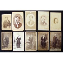 10 Antique CDV Portrait Photographs Photo Men