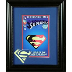 Framed 14x17 Reign of the Supermen Superman Comic Book
