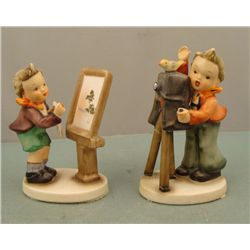 2 Napco Vintage Hummel-Like Ceramic Figurines Children