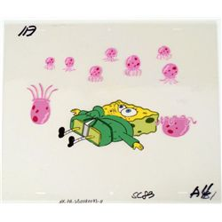 Attack Jellyfish Stingers Orig Animation SpongeBob Cel