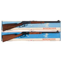Two Winchester Lever Action Rifles with Boxes