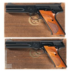 Collector's Lot of Two Boxed Colt Woodsman Match Target Semi-Automatic Pistols