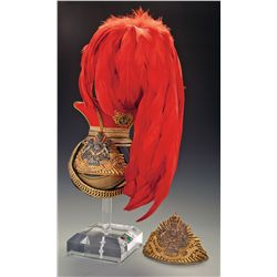 Excellent 12th or The Prince of Wales's Royal Lancers Officer's Czapka with Additional Lance Cap Pla