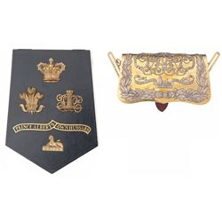 11th Hussars Officer's Letter Box and Pouch