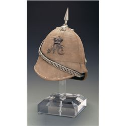 Natal Carabiniers Officer's Field Service Wicker Helmet