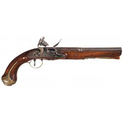 Whitney Marked Flintlock Pistol