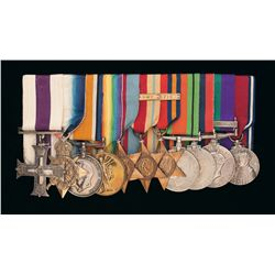 Grouping of British World War I and II Medals Awarded to Colin Kayser Davy, Includes Military Cross