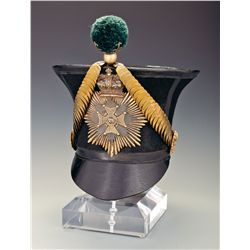 53rd Shropshire Light Infantry Officer's 1828 Pattern Bell Top Shako