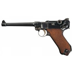 Luger Navy Model http://www.icollector.com/1916-Dated-DWM-Model-1914-Navy-Luger-Style-Pistol_i13749032