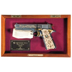 Colt Rattlesnake Legacy Edition Series 80 Semi-Automatic Pistol with Display Case