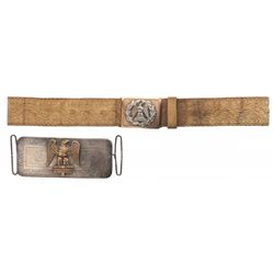 2nd Dragoon Guards or Royal Scots Grays Dress Belt and Pouch