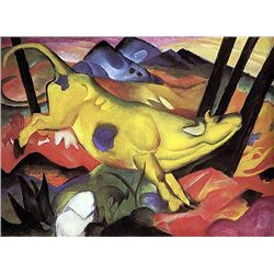 The Yellow Cow- Marc - Limited Edition on Canvas