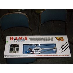 Pair of Remote Control Helicopters H.A.W.K Talon Volitation 3.5 channels outdoor metal helicopter wi