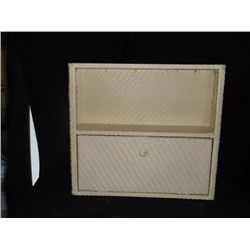 "Wicker Bathroom Wall Cabinet 19"" x 6"" 17"" Tall"