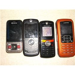 4 Cell Phones 1 Kyocera 2 Motorola's 1 LG