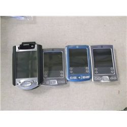 4 Palm PC's 3 Palm's and1 Compaq