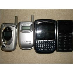 4 Cell Phones 1 Pan Tech 1 Samsung 1 blackberry 1 LG