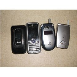 4 Cell Phones 1 Nokia 2 Motorola's 1 LG