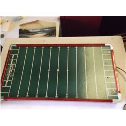 All Star electric football game board in good condition, no players or game tokens, 15 1/2 x 29 inch
