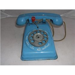Toy Telephone Blue The Steel Stamping Co. Lorain, Ohio Made in U.S.A.
