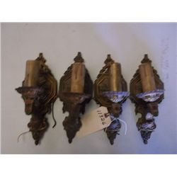 four antique wall sconces / light fixtures Vintage wall sconces/light fixtures tracking# 132